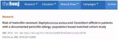 BMJ:超1000万病例数据库分析:有青霉素过敏记录的人,易得超级细菌感染